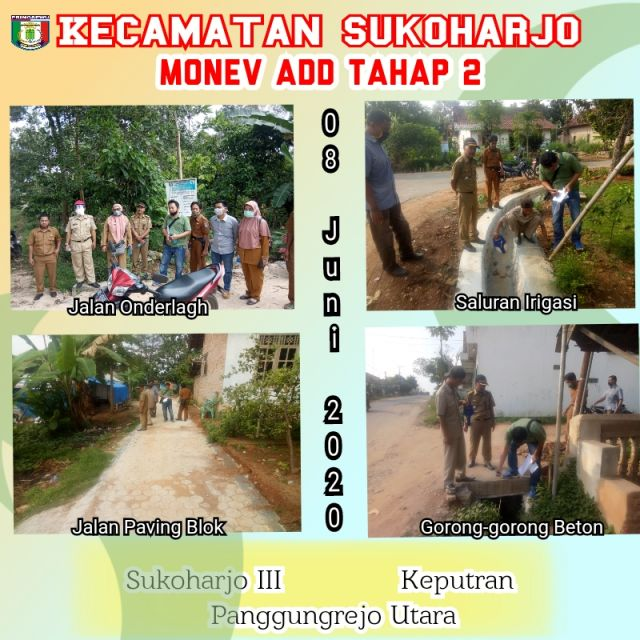 Tim Monev Kecamatan Sukoharjo Turun ke Pekon